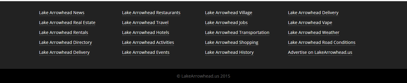 Lake Arrowhead Bus Routes and Transportation